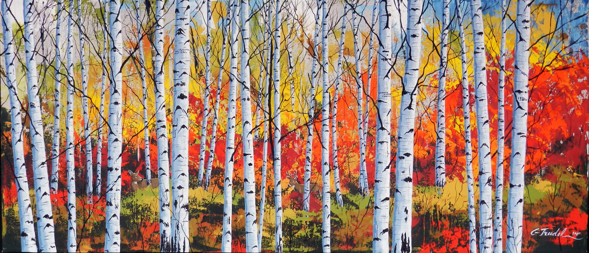La forêt danse 16 x 36