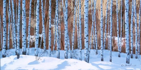 La forêt blanche 15 x 30