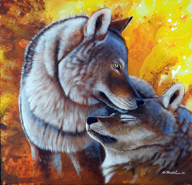 Amour tendresse 30 x 30